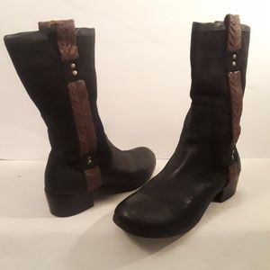 Ugg Weave Suede Jaspan Snow Boots Size 9